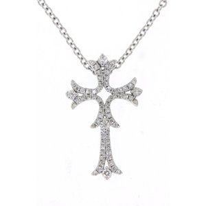 Diamond Designer Cross Pendant Jewelry White Gold